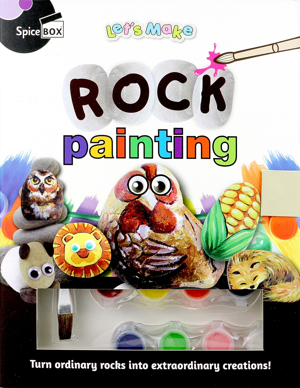 Book Kit: Let'S Make Rock Painting