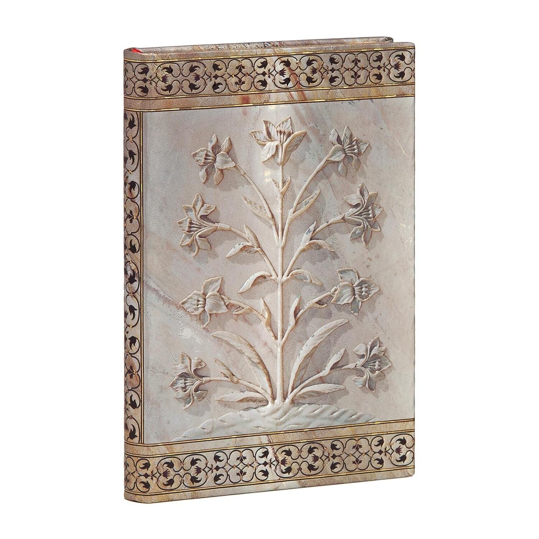 Journal, Lined, Mini Hardcover Agra - Taj Mahal Flowers