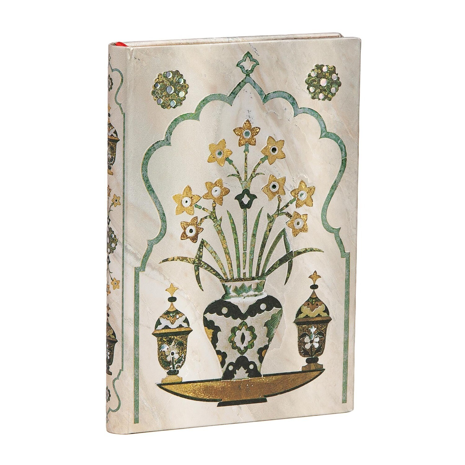 Journal, Lined, Mini Hardcover Shah - Taj Mahal Flowers