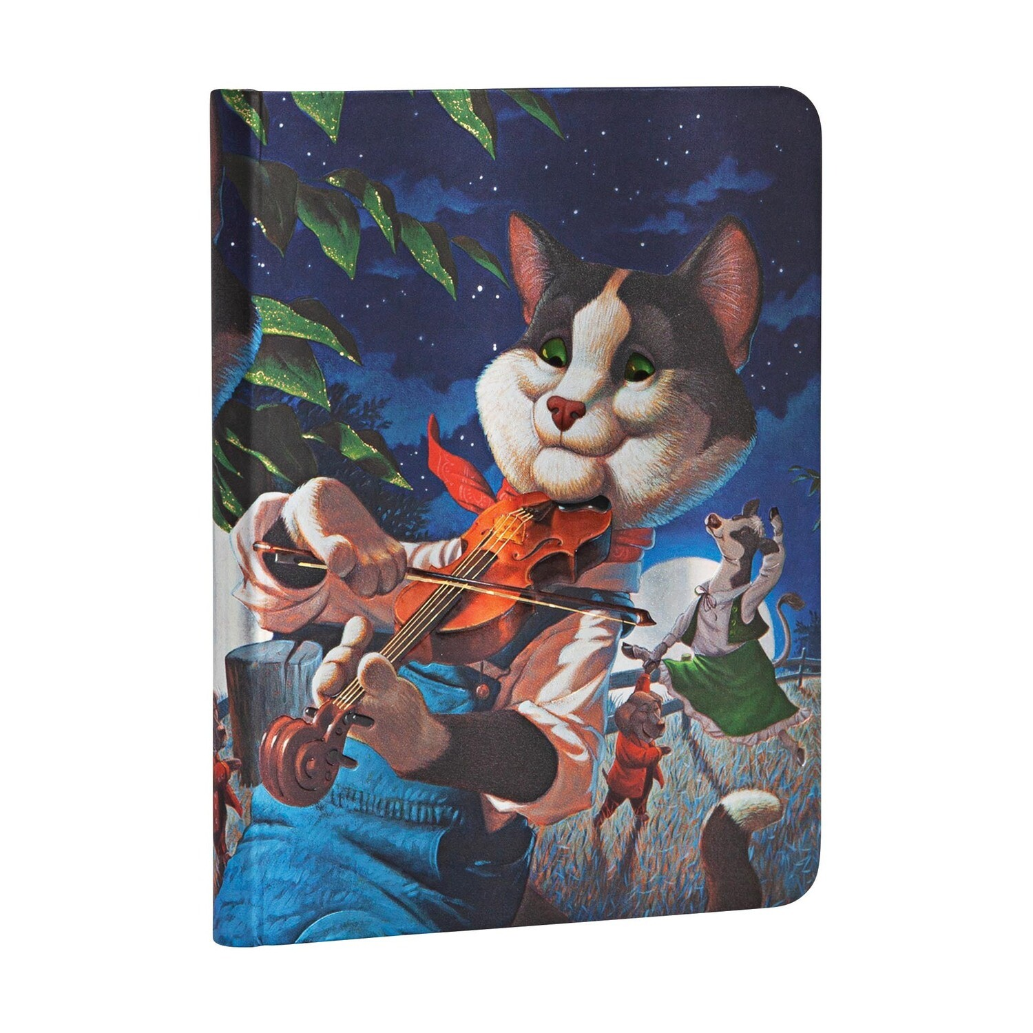 Journal, Lined, Midi Hardcover Cat And The Fiddle - Merrymakers