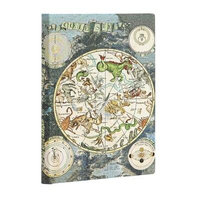 Journal, Unlined, Mini Flexis Celestial Planisphere - Early Cartography