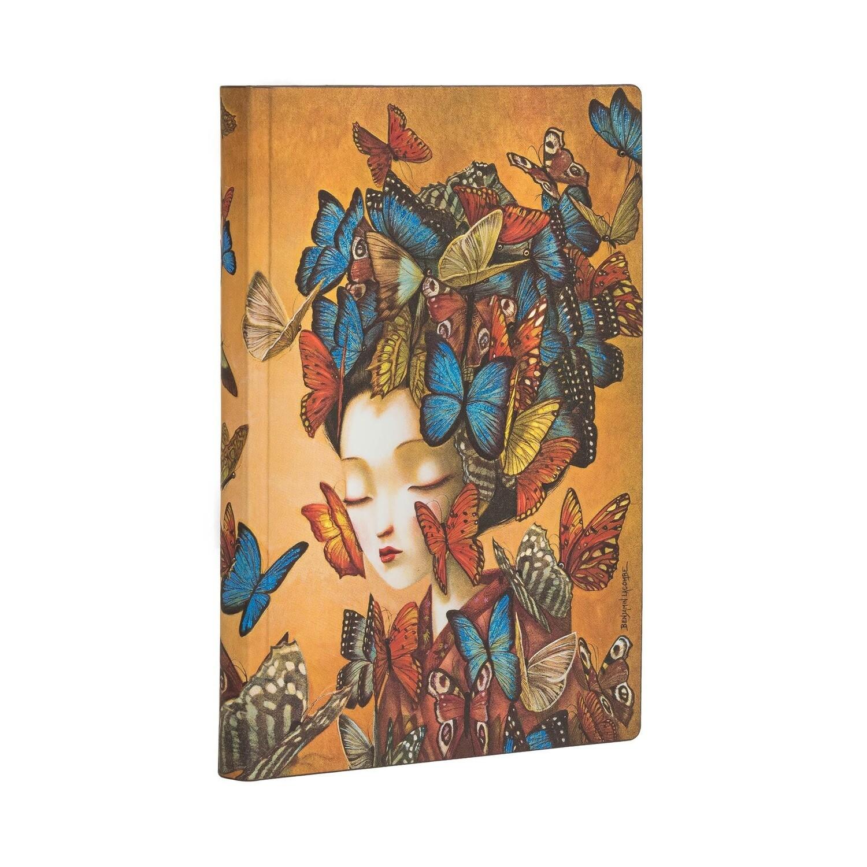 Journal, Lined, Mini Flexis Madame Butterfly - Esprit de Lacombe