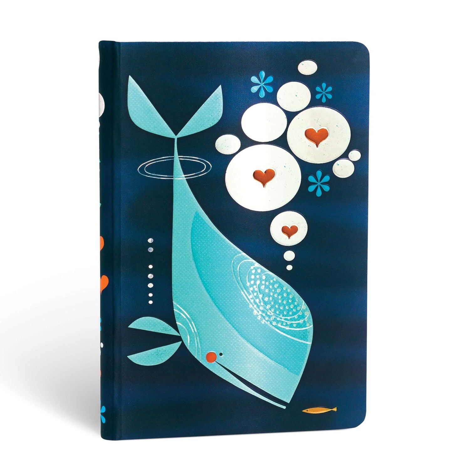 Journal, Unlined, Mini Hardcover Whale And Friend - Tracy Walker's Animal Friends