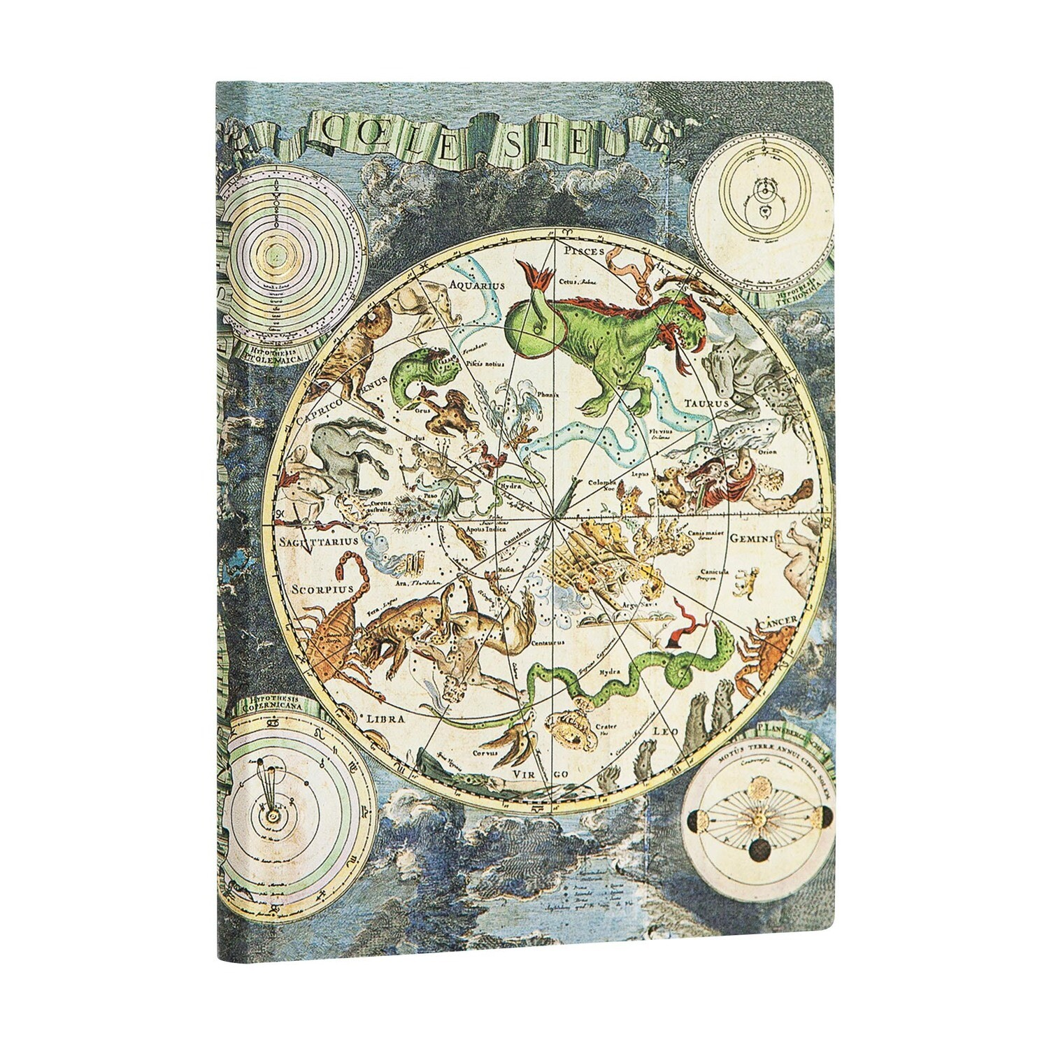 Journal, Lined, Midi Flexis Celestial Planisphere - Early Cartography