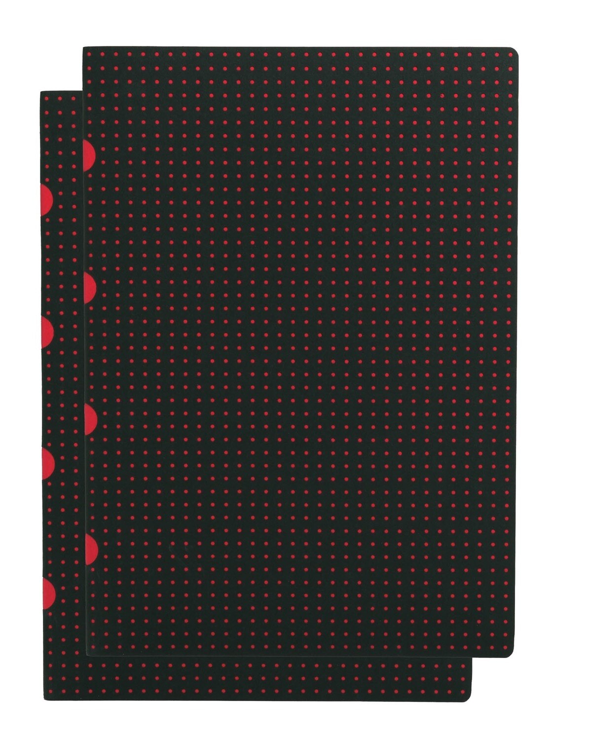Notebook, A4 Lined, Paper-oh  80 pg 2 pk Black on Red