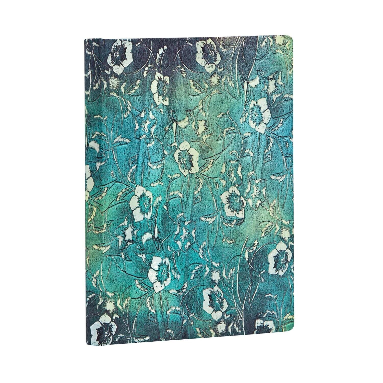 Journal, Unlined, Mini Hardcover Kuro - Katagami Florals