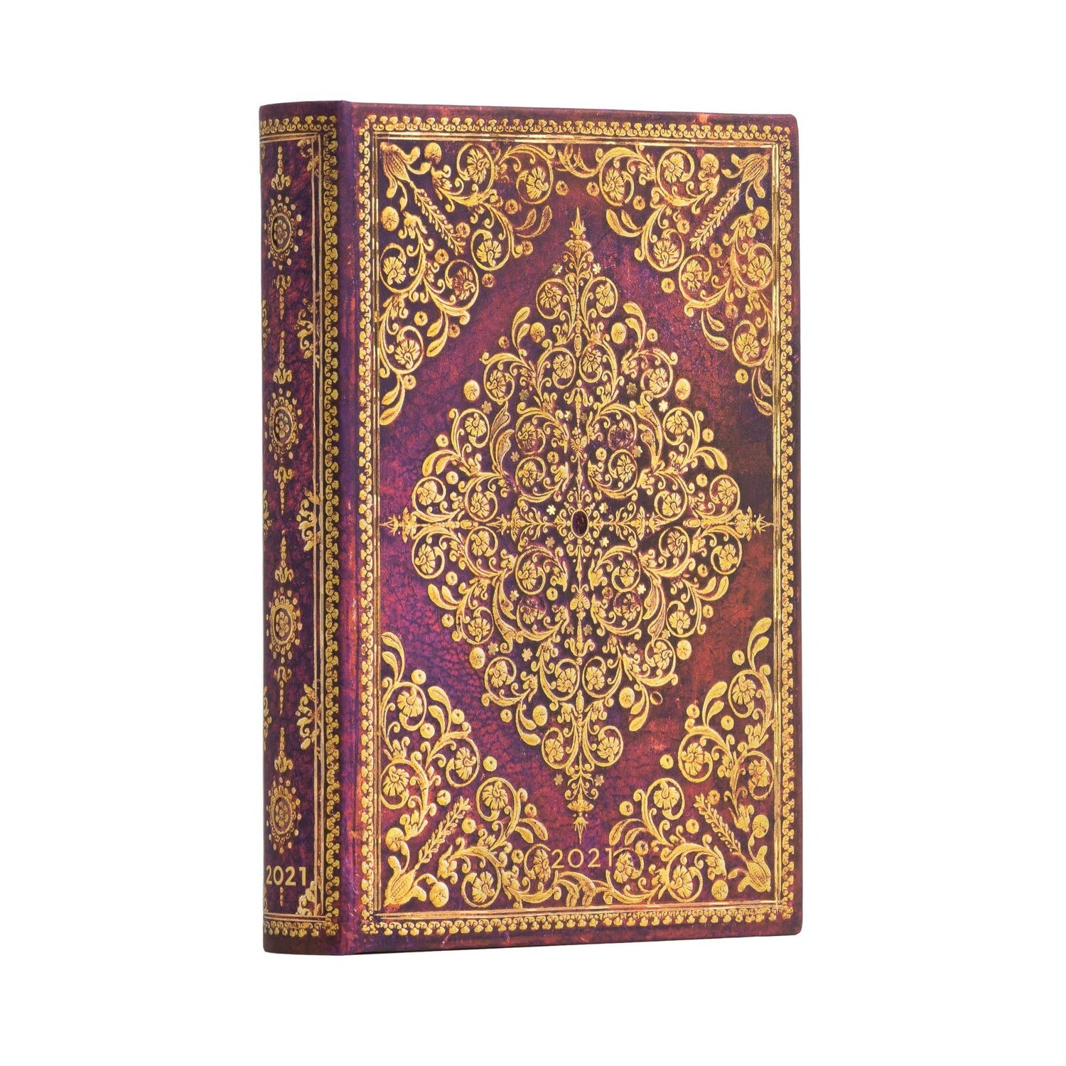 Planner, Daily, Mini - Yearly 12 months Viola - Diamond Rosette