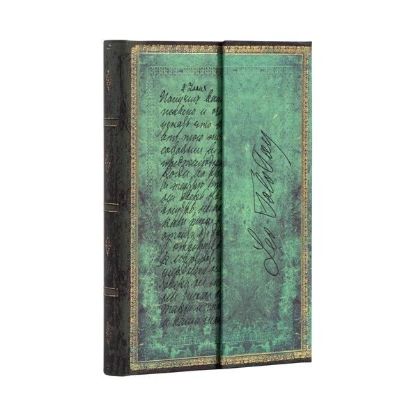 Journal, Lined, Mini Hardcover Tolstoy Letter of Peace - Embellished Manuscripts