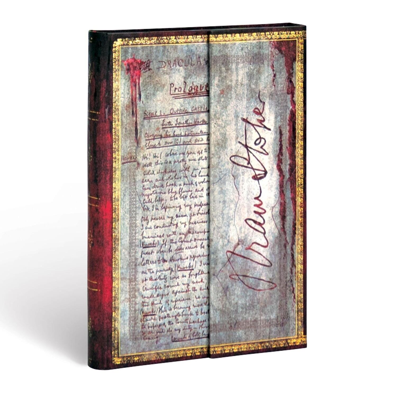 Journal, Lined, Mini Wrap Bram Stroker, Dracula - Embellished Manuscripts