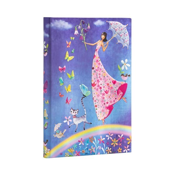 Journal, Lined, Midi Hardcover Spring Rainbow - Mila Marquis Collection