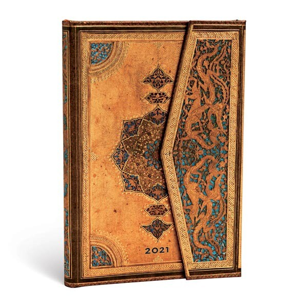 Planner, Weekly, Mini Wrap - Yearly 12 months Safavid