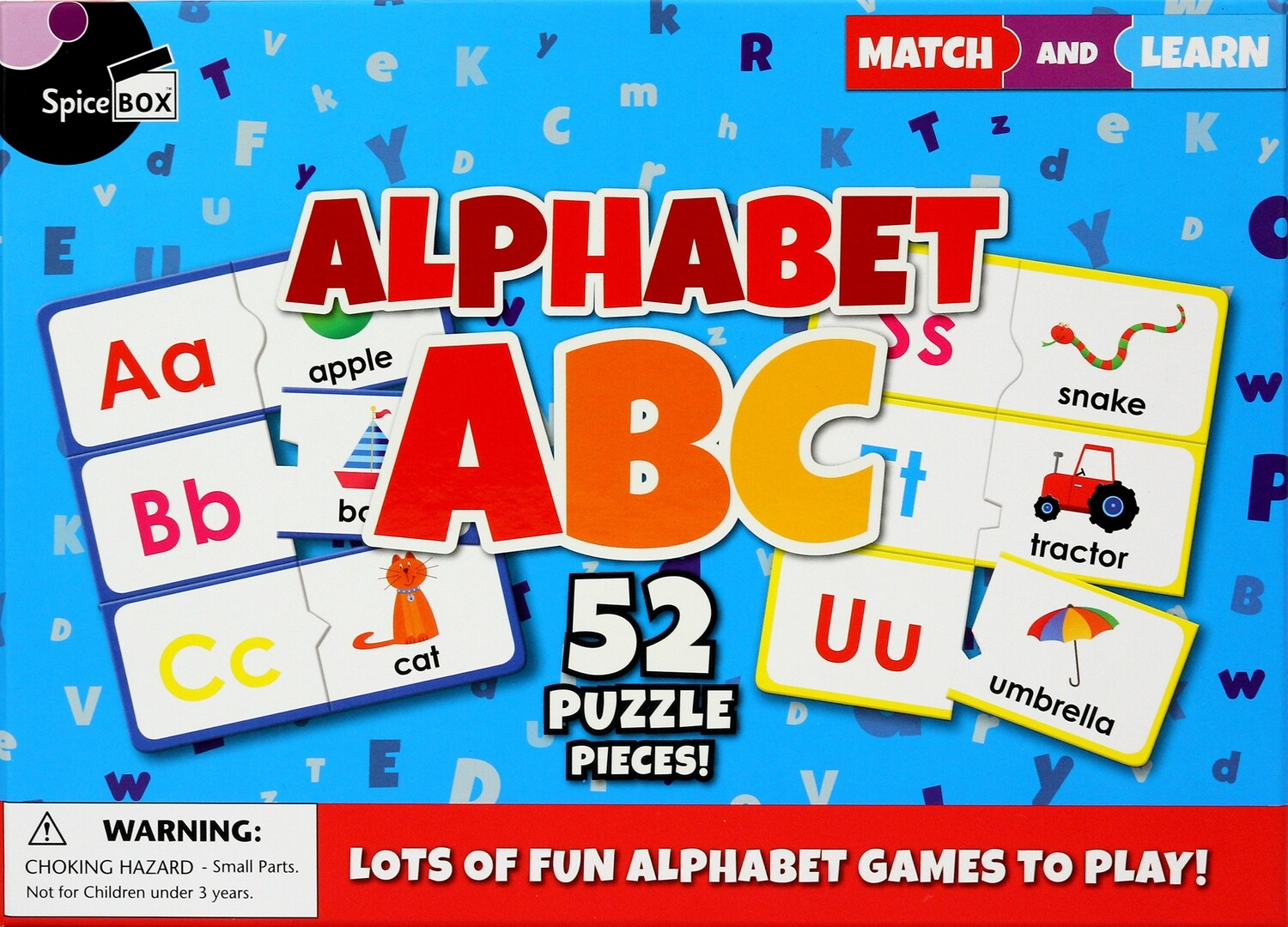 Match and Learn: Alphabet ABC Puzzles