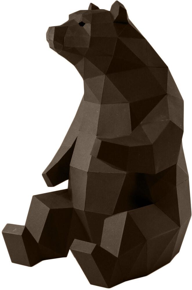 """3D Papercraft Modle DIY Kit - Black Bear Table & Floor 18.9"""" x 11"""" x 13.4"""""""