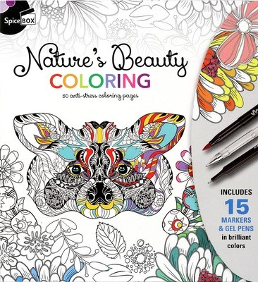 Book Kit: Sketch Plus Deluxe Nature's Beauty Colouring