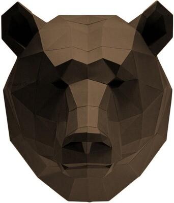 "3D Papercraft Modle DIY Kit - Bear Wall Art 17.3"" x 15.7"" x 15.7"""