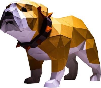 "3D Papercraft Modle DIY Kit - Bulldog Tabel & Floor 12.9"" x 8.7"" x 19.7"""