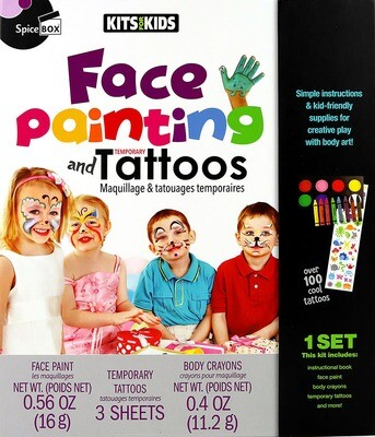 Book Kit: Kits For Kids Face Painting & Temp Tattoos