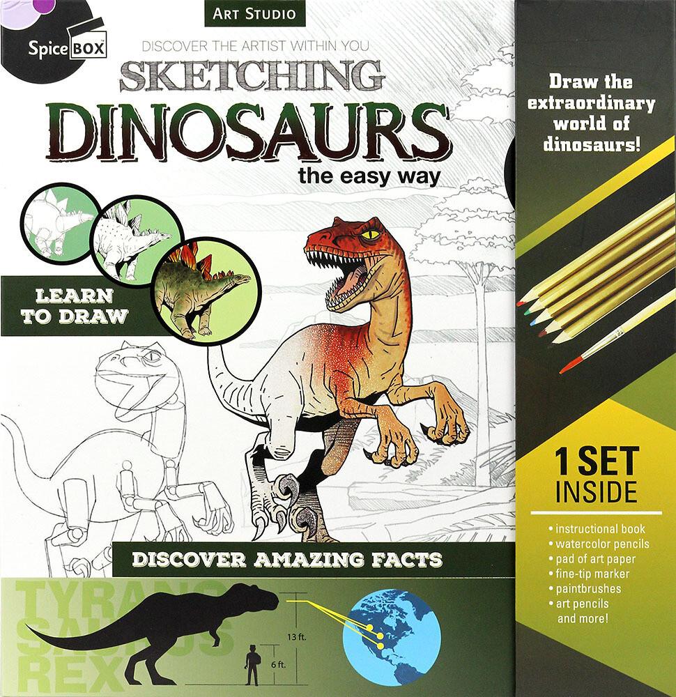 Book Kit: Art Studio Sketching Dinosaurs