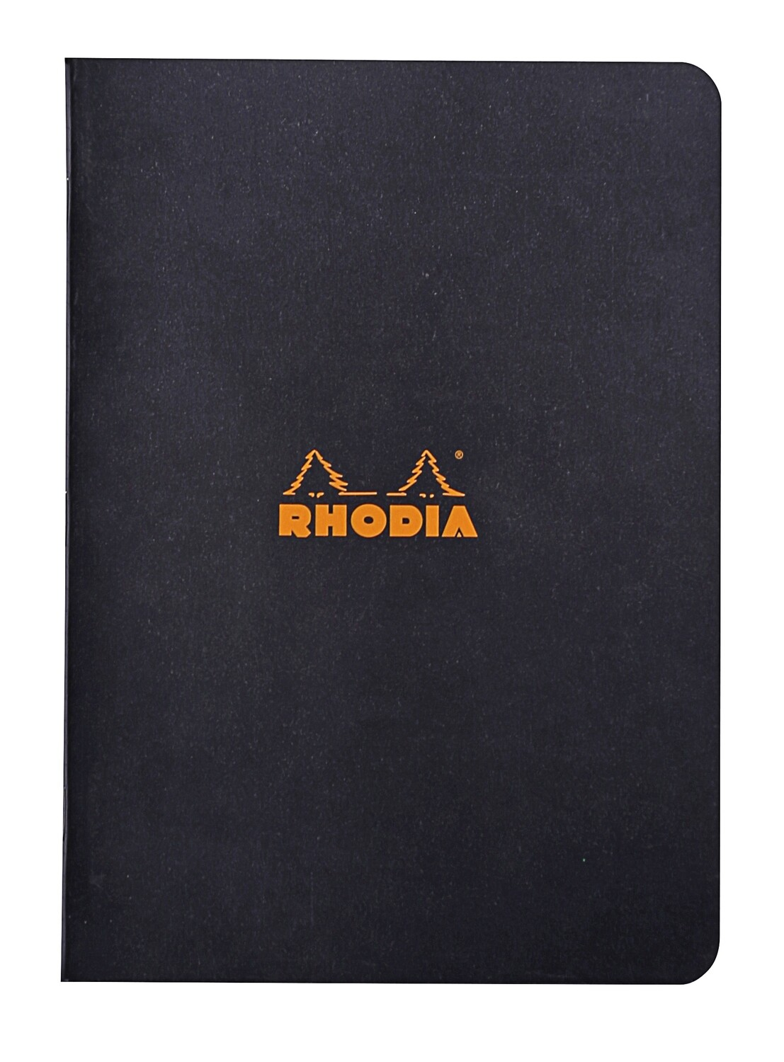 Notepad, Rhodia, Lined Black, A5, Staplebound