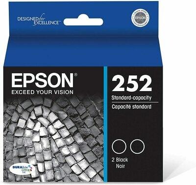 Epson 252 T252120D2 Black 2 Pack