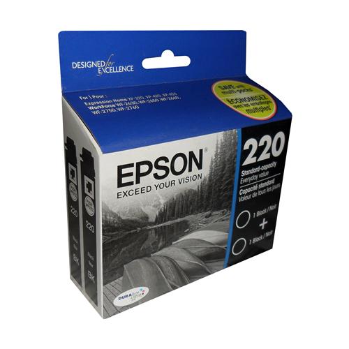 Epson 220 T220120-D2 Black 2 Pack