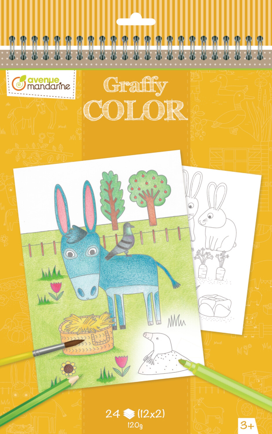 Colouring Bookmark, Funny Animals 12 Designs, 24 Pages, 6 x 1 x 20,5 cm