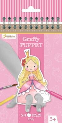 Colouring Book, Finger Puppet Princes & Princesses, Pre Cut out, 24 Page