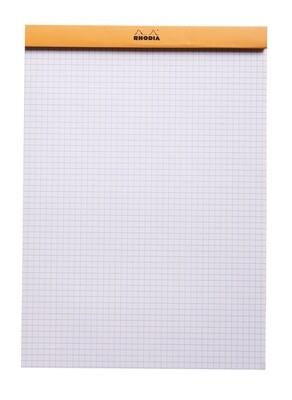 Notepad, Rhodia, Grid Orange, A4, Top Staple