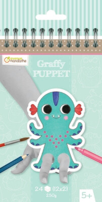 Colouring Book, Finger Puppet Fantastic Animals, Pre Cut Out, 24 Page
