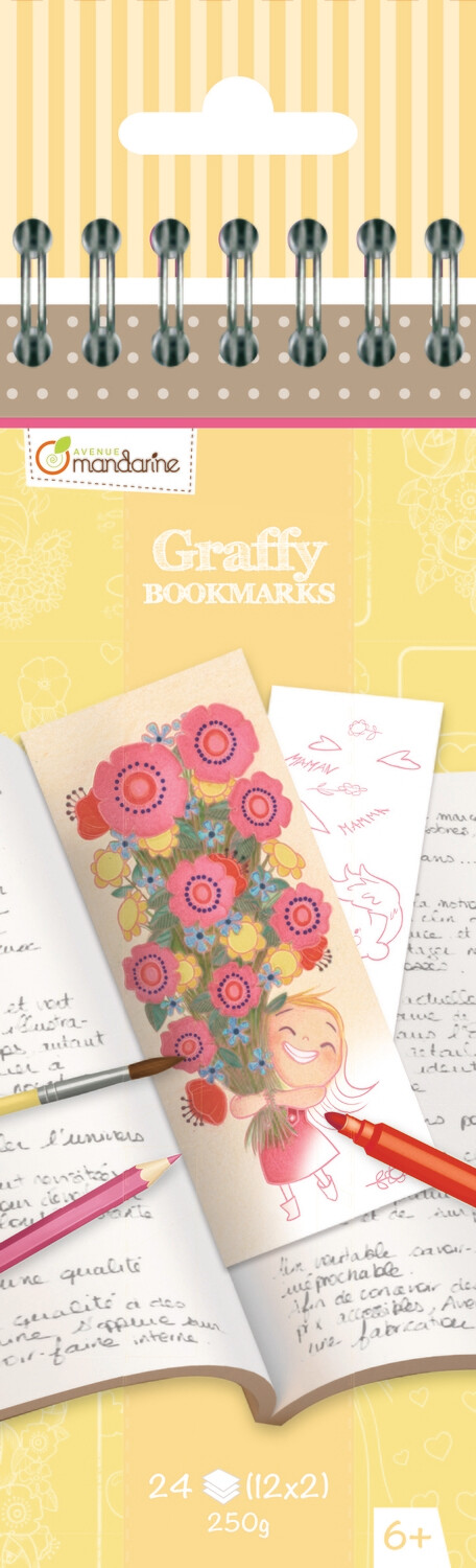 Colouring Bookmark Book Mother's Day, 12 Designs