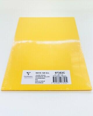 Cardstock, Maya, 54Lb Intensive Yellow, A4, 25 Pack