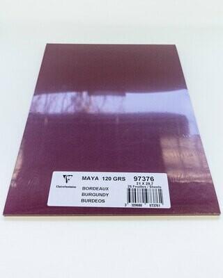 Cardstock, Maya, 54Lb Burgundy, A4, 25 Pack