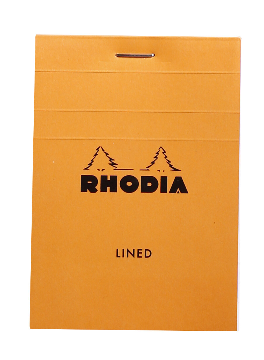"Note Pad, Rhodia, Lined Orange, A7, 3"" x 4"""