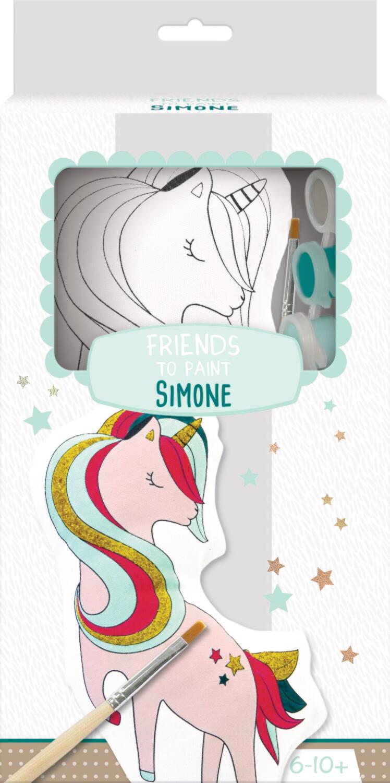 Stuffy Paint Kit, Friends to Paint Simone, 14 x 5 x 28 cm
