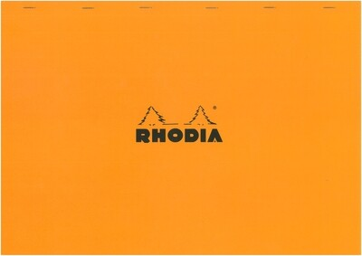 Notepad, Rhodia, Grid Orange, A3, Top Staple