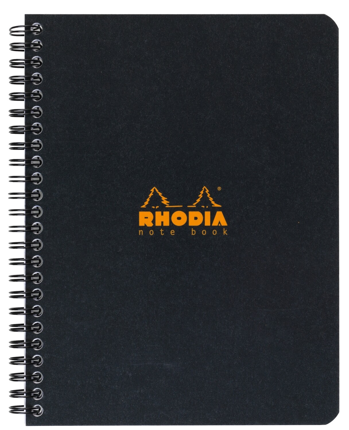 Notebook, Rhodia, Lined Black, A5, Sidecoil