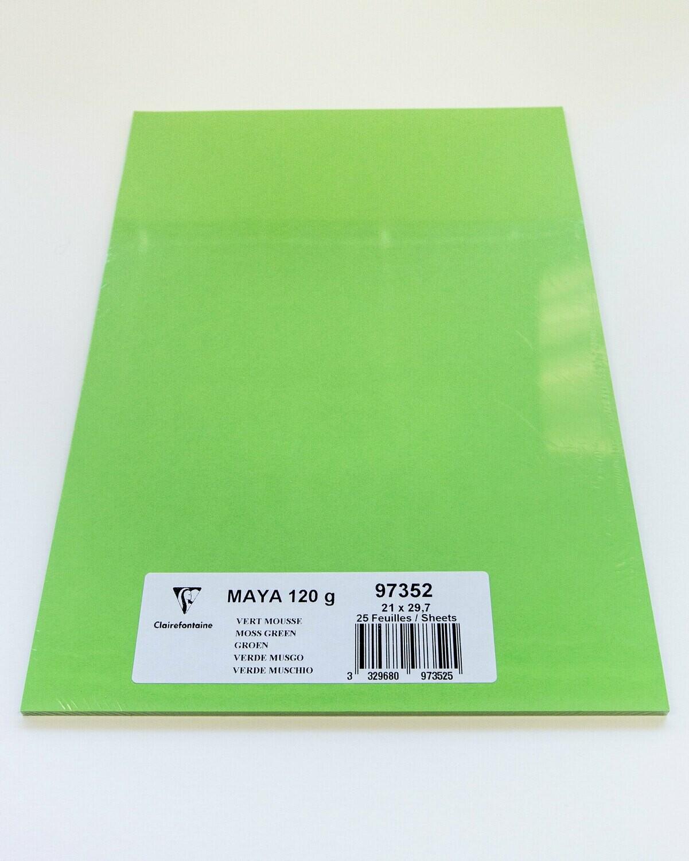 Cardstock, Maya, 54Lb Moss Green, A4, 25 Pack