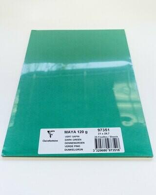 Cardstock, Maya, 54Lb Dark Green, A4, 25 Pack