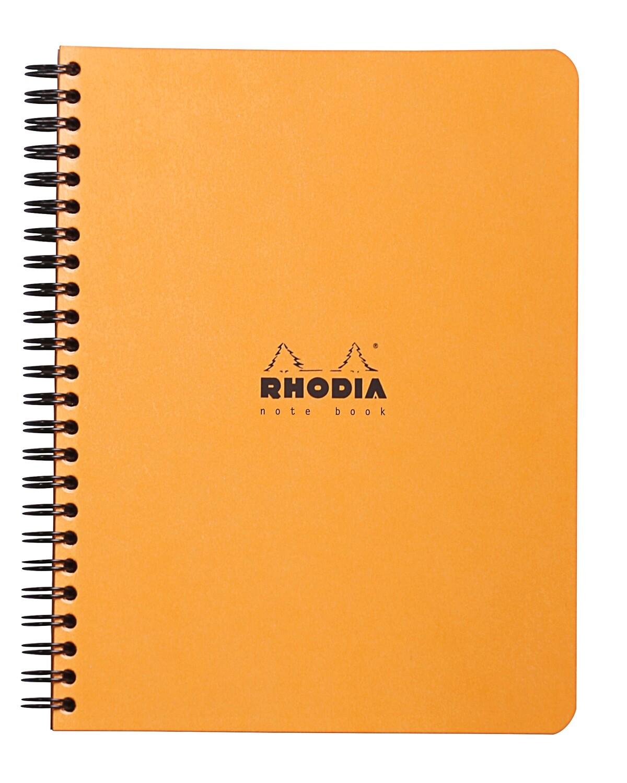 Notebook, Rhodia, Lined Orange, A4, Sidecoil
