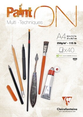 Art Paper Pad Paint-On Multi-Tech, A4, 40 Pages