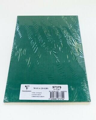 Cardstock, Maya, 54Lb Antique Green, A4, 25 Pack