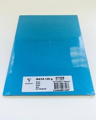 Cardstock, Maya, 54Lb Blue, A4, 25 Pack