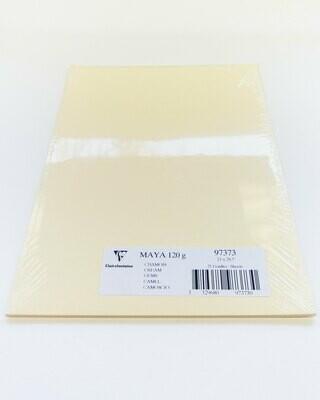 Cardstock, Maya, 54Lb Cream, A4, 25 Pack