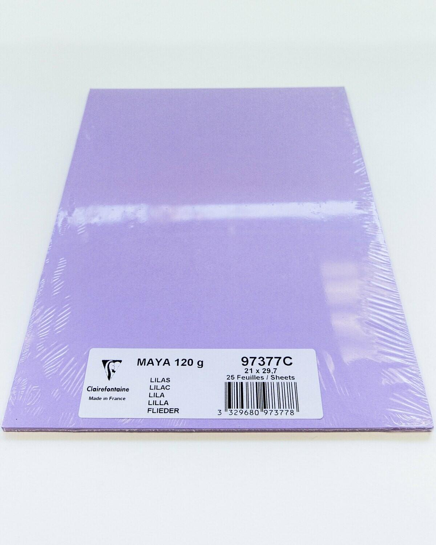 Cardstock, Maya, 54Lb Lilac, A4, 25 Pack