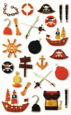 Stickers, Cooky Pirates, 24 Sticker