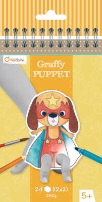 Colouring Book, Finger Puppet Pre-Cut, Super Hero Animals