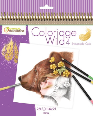 Colouring Book, Coloriage Wild 4 28 Pages