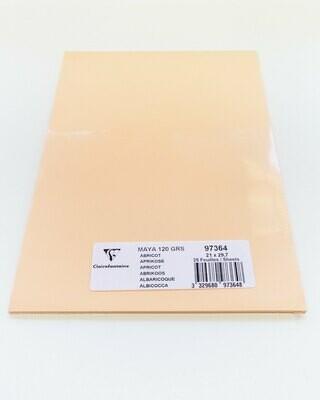 Cardstock, Maya, 54Lb Apricot, A4, 25 Pack