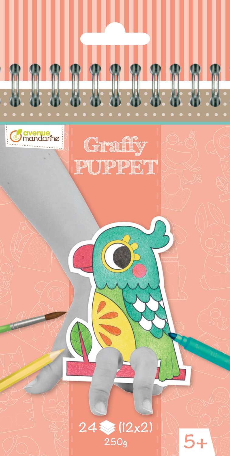 Colouring Book, Finger Puppet Domestic Animals, Pre Cut, 24 Page