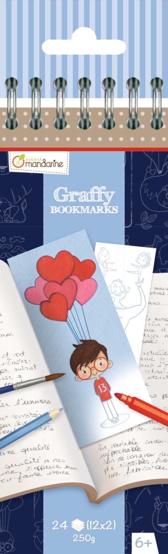 Colouring Bookmark Book Father's Day, 12 Designs